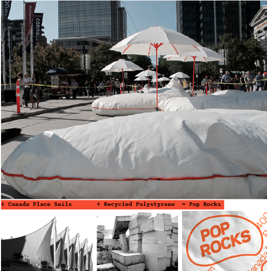 Pop Rocks a soft form architectural installation opening on Robson Street in Vancouver on August 15. Made from recycled industrial waste - 4000 square ... & AFJD: Design studio for Amber Frid-Jimenez u0026 Joe Dahmen